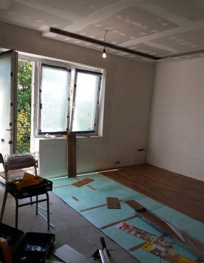 Laminált padló lerakása
