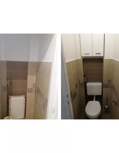 Wc, wc tartály, szekrény felszerelése